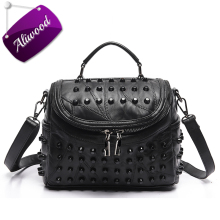Buy Aliwood Women's handbags Genuine Leather Crossbody bags Diamond embroidery Rivet Messenger Bags Pillow Tote Beans Shoulder Bags for $16.99 in AliExpress store
