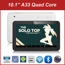 "10 inch Tablet PC Allwinner A33 Quad Core Android 4.4 Bluetooth 1GB/8GB Capacitive Screen 10.1"" Tablet + Gift(China)"