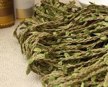 Rope and green leaf weave for DIY flower crown and headwear 2M/lot