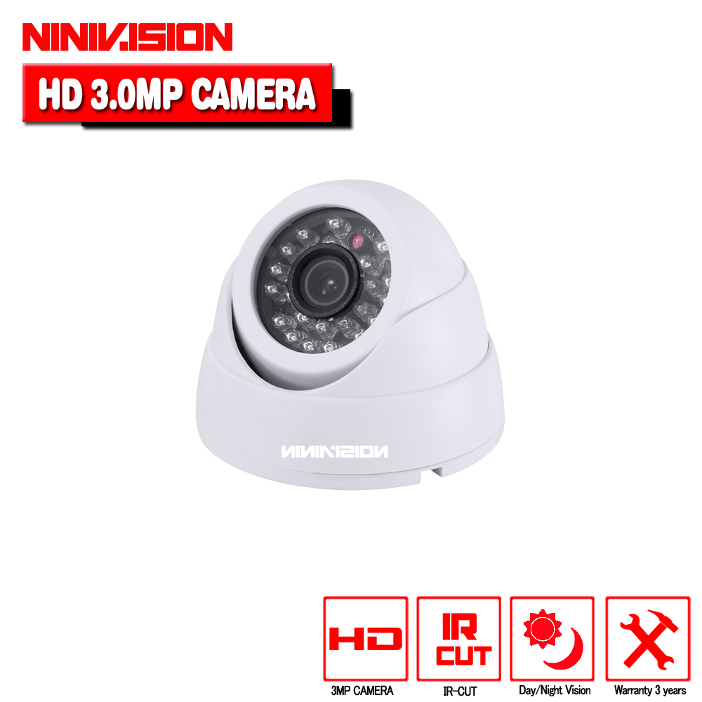 HD 1920P 3500TVL CCTV indoor Dome Video Surveillance security 3.0MP Night Vision cameras 3.6mm fixed lens for cctv camera system<br>