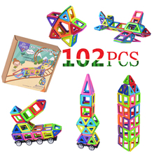 Joy Mags Mini Magnetic Designer Solid True Color Building Blocks Construction Bricks Birthday Gift 42/78/102 PCS(China)