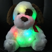 30CM New Hot Colorful Glowing Lovey Dog Luminous Plush Toys For Girl Children's Baby Birthday Gift High Quality YZT0160