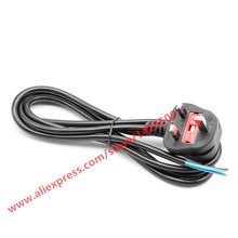 High Quality UK Plug 3 Wire Power Cord Cable Laptop AC 3 Power Cable 1.8M Bare Cable Tail(China)