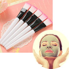 Professional Facial Mask Brush Wood Handle Cosmetic Tools Soft Fiber Hair Foundation Makeup Face Treatment Salon Beauty Tool