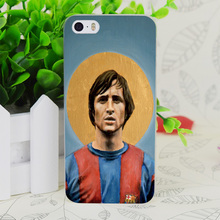 C3824 Football Icon Johan Cruyff Transparent Hard Thin Case Skin Cover For Apple IPhone 4 4S 4G 5 5G 5S SE 5C 6 6S Plus