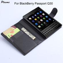 Plusme For BlackBerry Passport Q30 Case Hight Quality Flip PU Leather Wallet Case For BlackBerry Passport Q30 Back Cover Case(China)