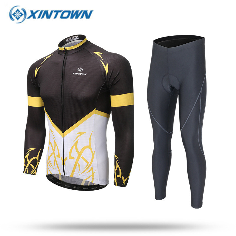 XINTOWN 2017 Couple Cycling Jerseys Long Sleeve Ropa Ciclismo Men Women Cycling Clothing Breathable Cycling Sportswear<br>