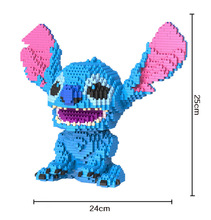 Bevle HC 9027 2276Pcs Stitch Japanese anime Cartoon DIY Magic Blocks Diamond Building Block Toys Compatible with Lepin