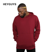 2017 HEYGUYS design fashion hip hop hoodies men red black plain plus sweatshirts man brand clothing street wear oversize(China)