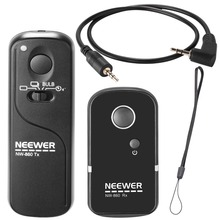 Neewer DSLR Shutter Release 100m Wireless Remote Control 2.4G Transmitter Receiver for Canon G10/G11/G15/G12/G1X/SX50/700D/1200D(China)