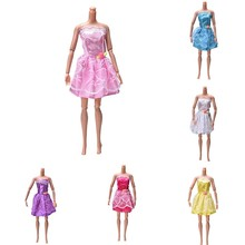 Beautiful Handmade Party Dress Fashion Clothes For Barbie Doll Kids Toys Gift Play House Dressing Up Costume Party
