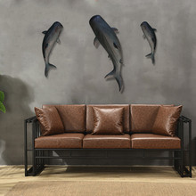 Shark Wall Decor Fish Wall Ornaments Resin Retro Decorative Creative Model Wall Hanging Decoration X'max Gift(China)