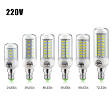 1Pcs 5730 SMD 3W 5W 7W 12W 15W 18W 20W 25W E14 E27 LED lamp 220V Spotlight Candle light LEDs Bulb Chandelier For Indoor lighting