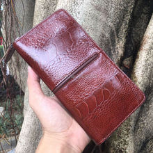 100% genuine original ostrich feet skin women bank card wallet, ostrich leather trifold lady credit card purse case women brown