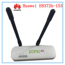 Unlocked Huawei E8372 E8372h-153 ( plus a pair of antenna) LTE USB Wingle LTE Universal 4G WiFi Modem dongle car wifi PK E3372(China)