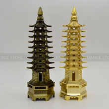 feng shui Metal 3D Model China Wenchang Pagoda Tower Statue Souvenir Gift Home Decoration metal handicraft