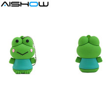 unidad flash usb pen drive regalos de la rana de los animales 4gb 8gb 16gb 32gb pen drive rana usb flash memory stick pendrive(China)
