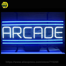 Arcade Video Game Retro Neon Sign Decorate Glass Tube Neon Bulb Recreation Room Handcraft Indoor Frame Sign Store Display 17x12(China)
