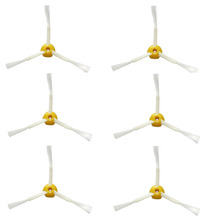 Free Ship New 6 pcs Side 3-Armed Bushes for iRobot Roomba 500/600/700 560 570 630 650 760 770(China)