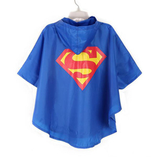 Raincoat kids raincoat superhero raincoat rain gear rainwear for kids Supergirl/Spiderman/Batgirl children raincoat 3-7T