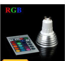 Wholesale 3W RGB LED Spotlight GU10 E27//E14/MR16 16 colour High Tech LED Lamp Spot light + IR remote control Free shipping(China)