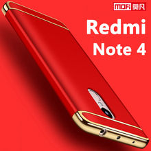 Xiaomi Redmi note 4 case cover 5.5 hard back coque ultra thin mofi 3 in 1 luxury protective bumper case for Xiaomi Redmi note 4(China)