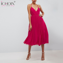Buy New 2018 Women Chiffon Party Summer Dress Maxi Long Backless Beach Sexy Dresses Women robe Sleeveless V Neck Strap dresses for $14.98 in AliExpress store