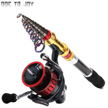 ODETOJOY Stick spinning Fishing Rod Carbon Fiber Olta Fish Spinning Telescopic Pole and13BB spinning Fishing Reel Carbo rod FF(China)