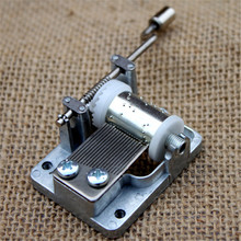 New Retro Mechanical Hand Crank Metal Music Box Movement Parts 9 Tunes DIY Music Tools