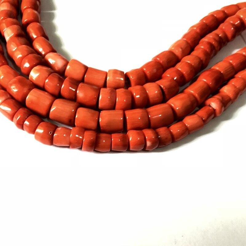 """Coral Natural Gemstone 2mm X 4mm lisa naranja rojo suelto espaciador granos 16/"""" Crafts"""