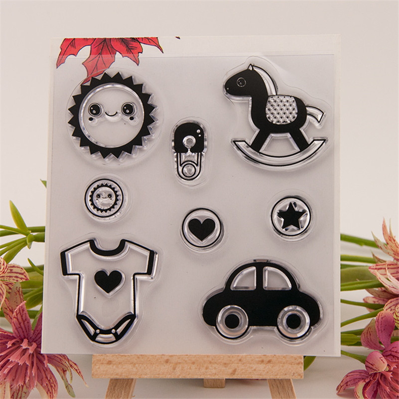 wooden horse design clear silicon stamps scrapbooking stamp for kids diy paper card wedding gift wedding gift poto Album BX-175<br><br>Aliexpress