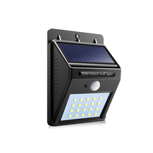 Novelty Lights Led Solar Lamp with PIR Motion Sensor Detector Solar Light 20LEDS Automatic ON / OFF Garden Stairs Yard Pathway(China)