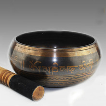 17CM Tibetan Singing Bowl Himalayan Hand Hammered Chakra Meditation Home Decoration Crafts Religion Belief Yoga Bowl