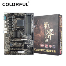 Colorful Battle AXE C.A970X X5 V14 Motherboard Computer Mainboard Systemboard for AMD AM3/AM3+ DDR3 SATA3.0 USB3.0 ATX Desktop