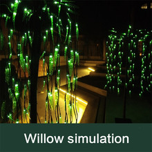 1.2m x 100 LEDs Solar Simulation Willow Light Outdoor Garden Lawn Pool Holiday Wedding Party Hotel Restaurant Decorative Lights(China)