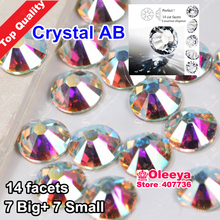 High Quality Top Grade Clear AB Hot Fix Rhinestone Flat Back Iron On Hotfix Crystal Strass Luxury Dress SS10 16 20 30 34 Y0626(China)