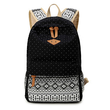 Canvas Printing Backpack Women Cute School Backpacks for Teenage Girls Vintage Laptop Bag Rucksack Bagpack Female Schoolbag