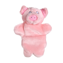 Lovely Pink Pig Hand Puppet Baby Kids Child Educational Soft Doll Plush Toy AO#P