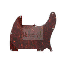 Red Tortoise 4Ply 8 Holes PVC Pickguard For US Standard Esquire Electric Guitar