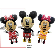 BINGTIAN The new  children's toys birthday party balloon decoration foil balloons wholesale oversized  Minnie  Mickey