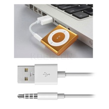 3.5mm Jack Plug to USB 2.0 charger Data Transfer Cable M Audio Headphone Adapter Cord for Apple ipod 3rd 4th 5th 6th Gen ig4s