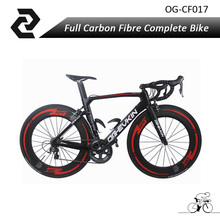 2018 22 Speed Carbon Road Bike New Arrival v brake UD T800 Full Carbon Complete road bike with Poweway R36 Wheels Bicicleta 52cm(China)