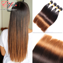 Ombre Remy Hair Extension Indian Virgin Hair Straight Ombre Wet And Wavy Indian Hair Blonde Color Three Tone 1B/4/30 Sexay Human