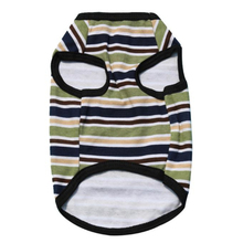 Happy home pet dog clothes cheap Summer Cute small dog clothes Pet Vest Puppy Printed T Shirt Hot Striped Cotton Jersey Vest(China)