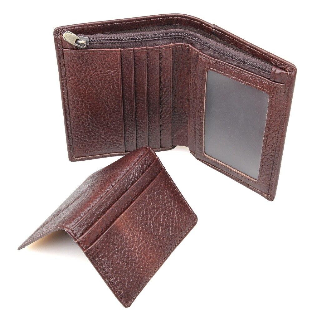 Tanned Leather Wallet RFID Blocking Credit Card Holder Billfolds Wallet R-8142-2C<br><br>Aliexpress