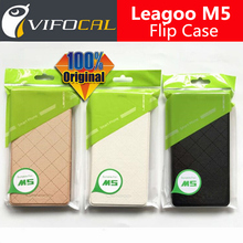 "Leagoo M5 leather case 100% Original Official Luxury Flip Protective Cover Leather Case For Leagoo M5 5.0"" Mobile Phone"
