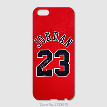 High Quality Cell phone case For iPhone 6 6S 7 Plus SE 5 5S 5C 4S iPod Touch 6 5 4 Case Hard PC NBA jersey Michael Jordan No. 23(China)