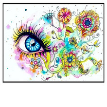 "NEW 30*40CM5D DIY Diamond Embroidered Acupuncture Cross Stitch ""beautiful eyes"" Diamond Art Wall Photo Christmas Decorative Gift"