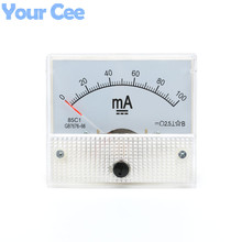 1 pc New 85c1 Current Monitoring 0~100mA Analog DC AMP Panel Meter Class 2.5 Pointer Ampere Gauge