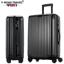 20'24'26'29' Zipper Luggage, PC Shell & Metal Wrap Angle Rolling Luggage Bag Trolley Case Travel Suitcase Wheels Free Shipping